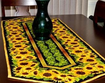 Table Runner - Quilted - Sunflower Table Runner