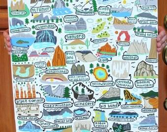 """National Parks - Art Print - 18""""x24"""" - Wall Art"""