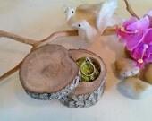 TREASURY ITEM - Wood Proposal box - Ring bearer box - Wedding box - Rustic wedding - Engagement ring box - Anniversary gift - Valentines