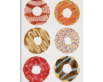 iCanvas Donuts Artprint II Gallery Wrapped Canvas Art Print by Cat Coquillette