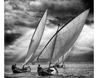 iCanvas Sailboats And Light Gallery Wrapped Canvas Art Print by Angel Villalba