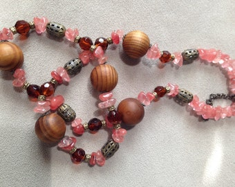 Agate & Wood Necklace