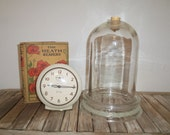 Antique Dome Cloche with Glass Base