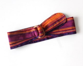 Colorful Cloth & Leather Belt
