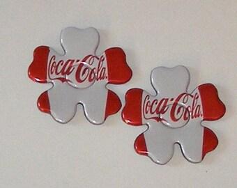 2 Flower Petal Magnets - Coca-Cola Soda Can (121915b)