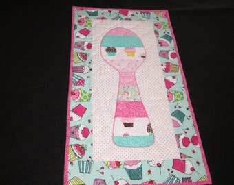 Quilted Dessert Spoons Wall Hanging #4