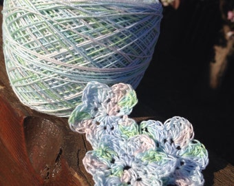 Crochet Cotton - Size 10 - Hand Dyed - Spring Bouquet - HDT - Large Project Size - 150, 200, 250 or 300 Yards