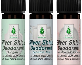 Silver Botanicals' Silver Shield Deodorant - Sample Pack, All-Natural, Aluminum-Free, Colloidal Silver Deodorant