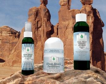 Silver Botanicals' Silver Shield Deodorant - Sensitive Skin Formula, All-Natural, Aluminum-Free, Colloidal Silver Deodorant