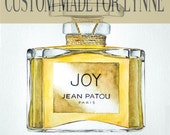 Water Color Joy Jean Patou Perfume Original Art