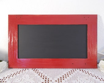 Red Chalkboard Rustic Shabby Chic Distressed Blackboard Country Cabin Farmhouse Kitchen Home Decor Barn Wedding Chalk Board Decoration Gift
