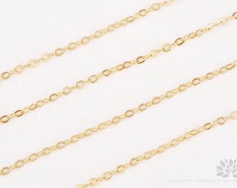 C110-MG// Matt 14k Gold Plated Cable Chain, 3M