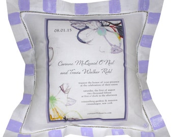Personalized Wedding Invitation Pillow