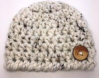 Crochet Baby Hat, Newborn Baby Hat, Chunky Baby Boy Beanie,  Tweed Baby Boy Hat, Baby Photo Prop, Newborn Beanie, Child Hat, Toddler Hat