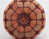 Retro Pouf Ottoman- Octagonal Footstool- Floor Ottoman- Mid-Century Modern fabric- by beckyzimmdesign