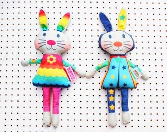 Bunny Doll craft kit personalised rag doll