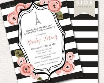 Paris Invitation / Eiffel Tower Bridal Shower Invite