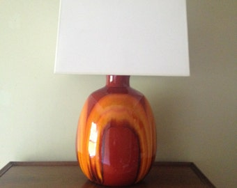 Mod Orange Lamp 1960s