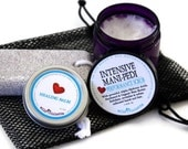 Spa Gift for Her / Pedicure Spa Gift Set / Callous Removing  Mani Pedi with Hydroxy Acids and Panthenol / Mani Pedi Spa Set
