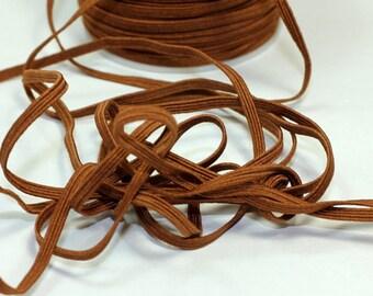 5 Yards-1/8 Inch Brown Skinny Elastic-Headbands-Trim- 5 Yards