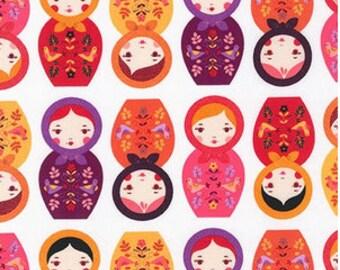 Sweet Matryoshka Dolls From Robert Kaufman's Little Kukla Collection by Suzy Ultman