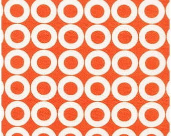 Spot On Circles on Tangerine from Robert Kaufman's Spot on Collection