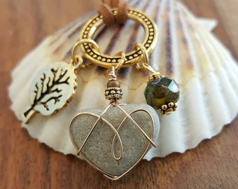 Heart Necklace Adjustable Suede Cord Beach Inspired Wearable Art