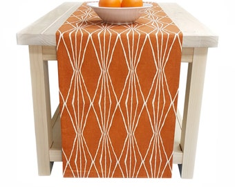 Fall Table Runner, Thanksgiving Table Runner Rust Orange Table Runner Fall Thanksgiving 60 inch, 72 inch, 96 inch, 108 inch, 120 inch long