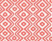 Fat Quarter fabric for quilt or craft Michael Miller Eduardo in Coral Fat Quarter
