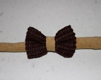 Boys brown bowtie, bow tie