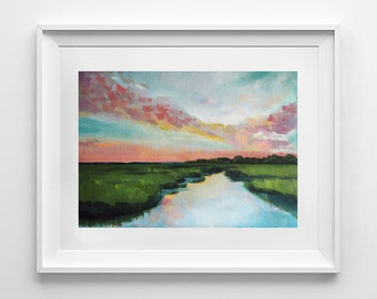 Sorbet Sky | Acrylic Painting Giclee Art Print | Various Sizes available