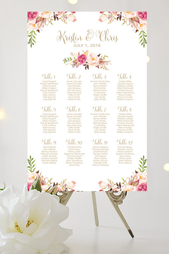 Wedding seating chart by table various by charmingendeavours for 108 table seats how many