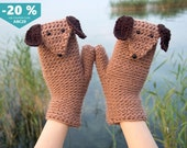 Sausage Dog Mittens / Gloves (Convertible) ~ FREE Shipping Worldwide