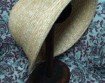 SALE Bonnet de Paille - Regency Era Straw Bonnet  -  by Anna Worden Bauersmith