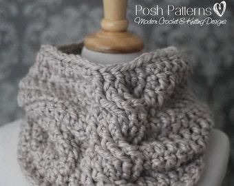 Crochet Pattern - Crochet Cowl Pattern - Cowl Crochet Pattern - Crochet Scarf Pattern - Cable Cowl - Toddler, Child, Adult Sizes - PDF 436