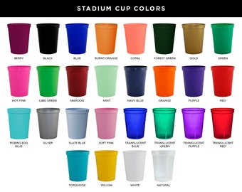 Sample Cups, Blank Samples, Stadium Cups, Plastic 16oz Stadium Cups, Blank Cup Colors Up to 4