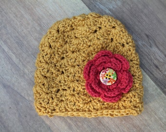 Girls Lace Crochet Hat