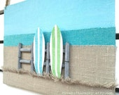 Surfboard Decor - Surf Decor  - 3D Surfboard Wall Decor - Surf board Sign - Surf Wall Decor - Beach Wall Decor - Beach Sign - Fiber Art