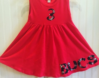 Bucs Toddler Dress- Tampa Bay Bucs Football