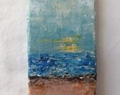 Sunset on the Sea Mini Art Canvas