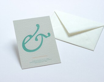 Letterpress Ampersand Postcard - Adobe Garamond Italic
