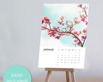 blossom calendar 2017 photography calendar 4x6 5x7 fine art photography 2017 desk calendar with easel nature photography 2017 pastel pink