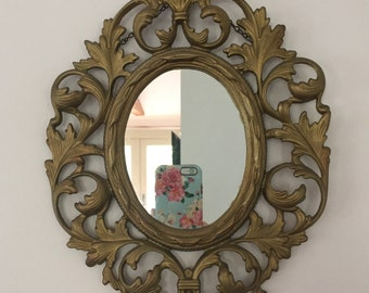 Vintage Picture Frame with mirror to hang