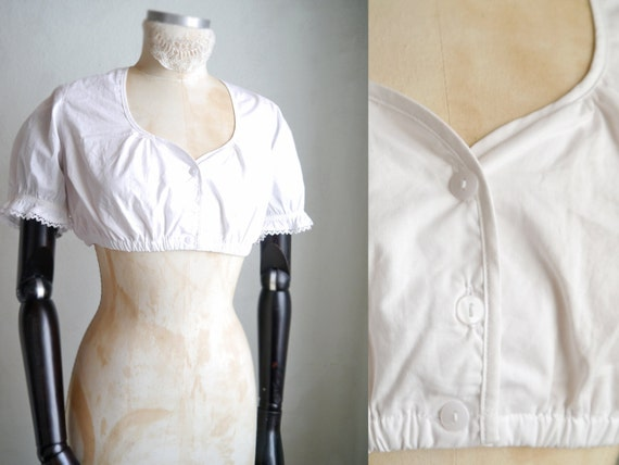 Blouse Corset Cotton White