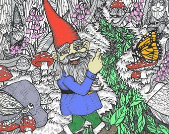 The Gnomes Friends and Family Coloring Book
