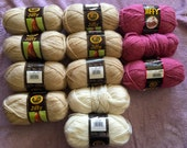 "Yarn "" Lion Brand Yarns Jiffy"" in Camel, Fisherman and Dusty Pink"