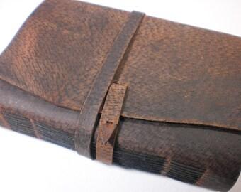 Leather Blank Book 5x7 Unique Handmade Artist Journal