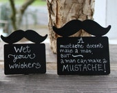 Little Man Mustache Birthday Party Chalkboard Signs, Little Man Baby Shower Bow Tie Theme Baby Shower Small Chalkboard Sign Food  Markers