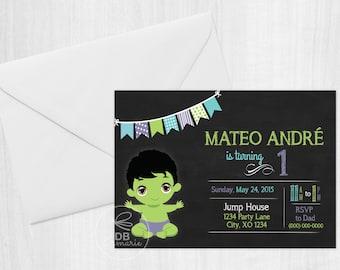 Baby Hulk Digital Invitation