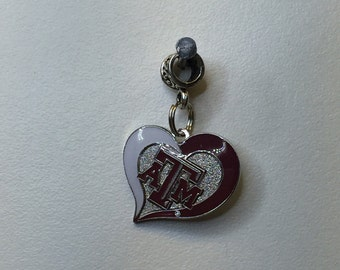 NCAA Texas A&M heart charm